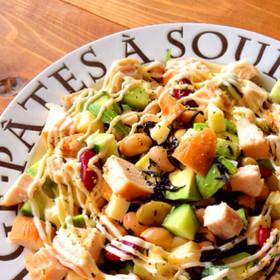 ダイエットに♪スモークチキンと豆のサラダ