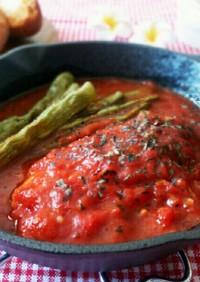 ふっくら♪めかじきのトマトソース