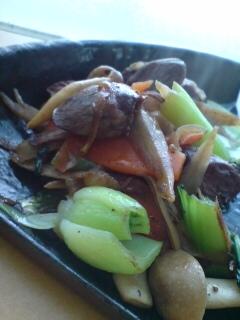 鶏ハツといろいろ野菜の炒め