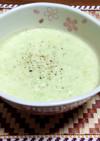 冷凍えだ豆とジャガイモの豆乳スープ♪