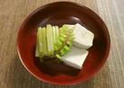 ふきと高野豆腐の煮物