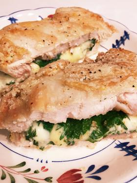 簡単カリカリ柔らか鶏胸肉大葉チーズ焼き
