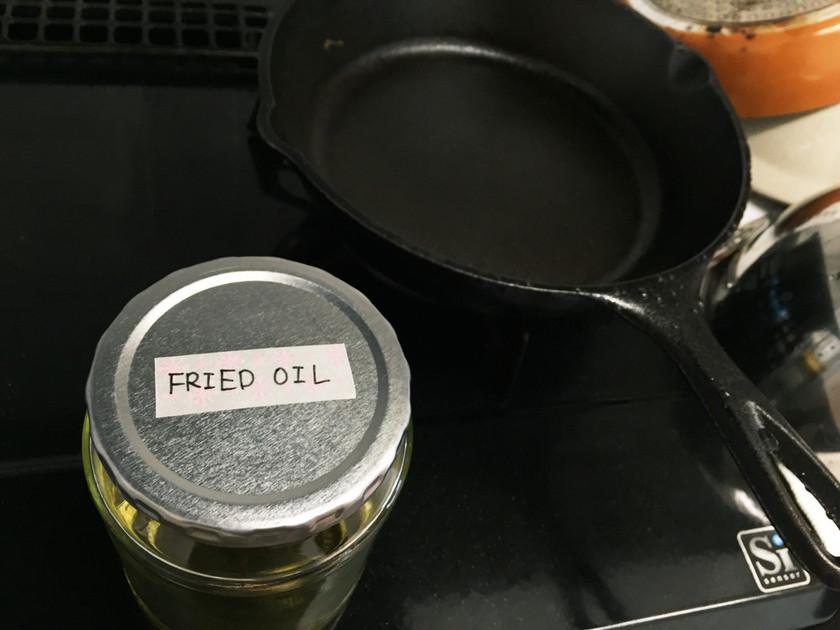少量の揚げ油ならこれでOK♪油の保存☆