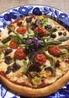 春山菜の酒粕ピザ