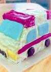 男の子*働く車*立体*ミニ救急車ケーキ