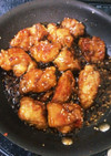 ヨシダソースで鶏肉の甘辛煮