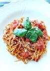 4タイプのトマトでノンオイルスパゲッティ