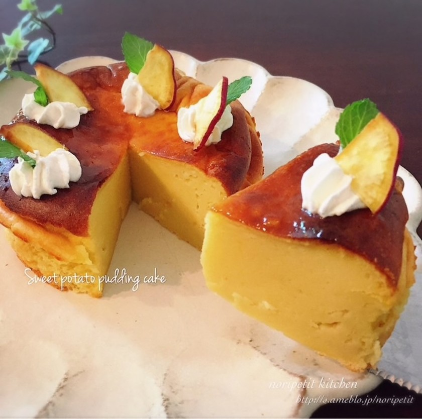 ミキサーde簡単♡さつまいもプリンケーキ