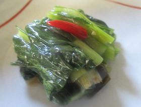 袋で作る小松菜の野沢菜もどき