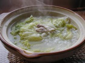 白菜のライススープ