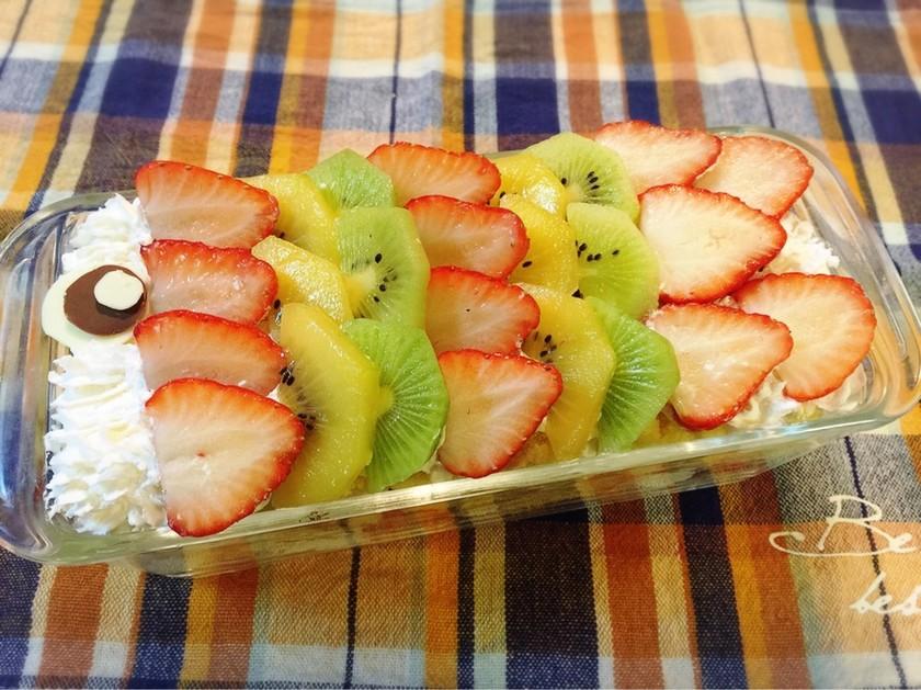 簡単♪こどもの日に鯉のぼりスコップケーキ
