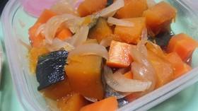 【レンジで簡単】カボチャ&人参の煮付け