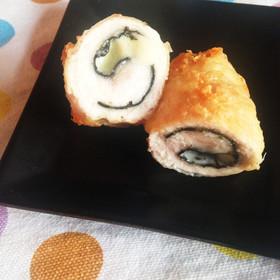 お弁当に☆簡単ささみの海苔チーズ巻き