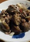 ナスとひき肉のピリ辛炒め
