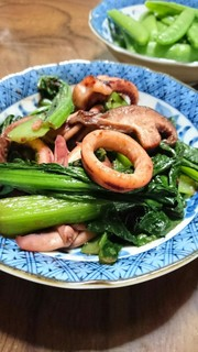 簡単!時短☆ イカと小松菜の中華風炒めの写真