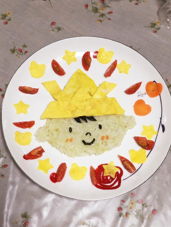 こどもの日☆簡単かぶとボーイご飯