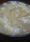コーンと玉ねぎのふわふわ卵中華スープ