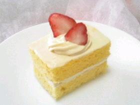 レンジで簡単☆ふわふわスポンジケーキ