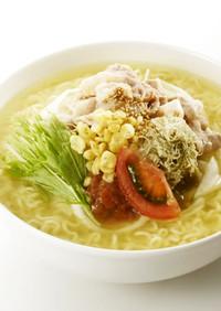 冷やし豚シャブと梅ポン酢の冷麺