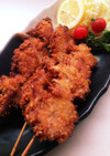 豚ヒレ肉と新タマの食べやす〜い串カツ!