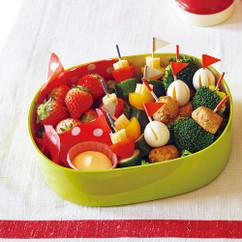 ミートボールと野菜のピンチョス