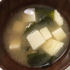 俺のみそ汁(わかめ&豆腐)