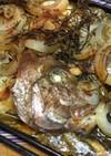 気仙産の鯛と鮃のアラのワイルドグリル