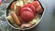 キャベツたっぷり、トマトのポトフの写真
