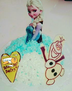 アナ雪 ドールケーキ♡