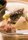 鮭缶で☻大根の煮物