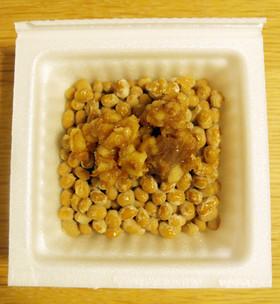 納豆にくるみ味噌♪