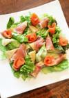 筍とスモークサーモン・生ハムのサラダ