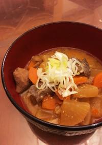 超簡単(o^^o)ピリ辛もつ煮
