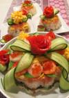 ちらし寿司ケーキ♡ひな祭り♡誕生日にも♡