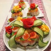 ちらし寿司ケーキ♡ひな祭り♡誕生日にも♡の写真