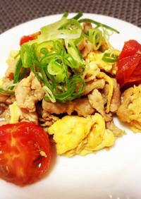 簡単炒め物♡豚肉とトマトのチャンプルー
