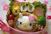 キティ稲荷弁当(キャラ弁)の写真