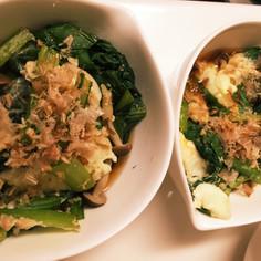 簡単☆小松菜と卵の煮浸し