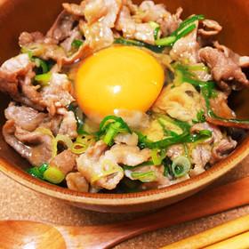 にんにく醤油香る♡豚肉とネギのスタミナ丼