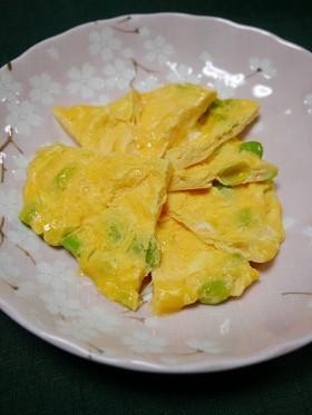 レンジで簡単!枝豆マヨ卵