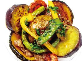 野菜でヘルシー「牛肉と焼き野菜のサラダ」