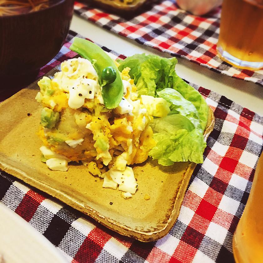 ホクホク♬そら豆とおじゃがの卵サラダ