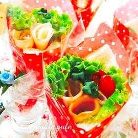 父の日、記念日に感謝の気持ちで花束サンド