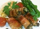 牡蠣のベーコン巻き バルサミコソース添え