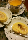 林檎のコンポートカスタードのロールケーキ