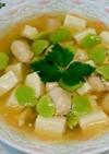 空豆とささみの豆腐あんかけ(*´ω`*)
