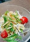 水菜と新玉ねぎ◎ごまドレサラダ