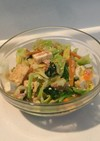 キャベツ、厚揚げ、ツナのナムル風サラダ