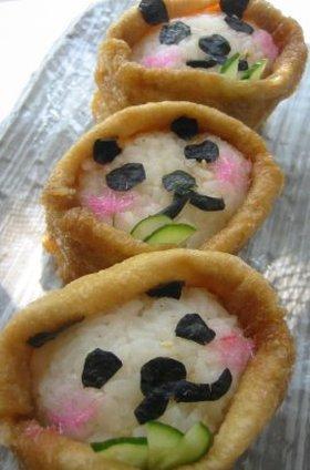 スマイルこぼれる☆パンダ☆いなり寿司