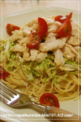 サラダチキンと野菜の彩りパスタサラダ